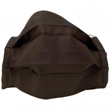 Schutzmaske stoffmaske braun seide Brucle