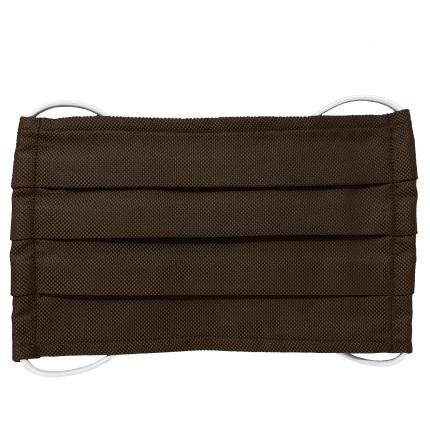 Fashion protective fabric mask, silk, dark brown