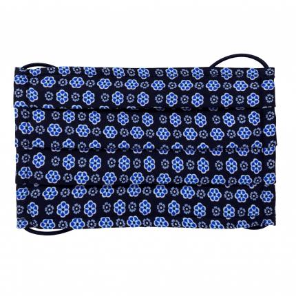 StyleMask Mascherina facciale filtrante in seta blu con fiori