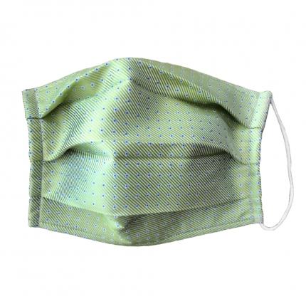 StyleMask Mascherina facciale filtrante verde a pois in seta