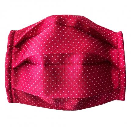 Fashion protective fabric mask, silk, red dot