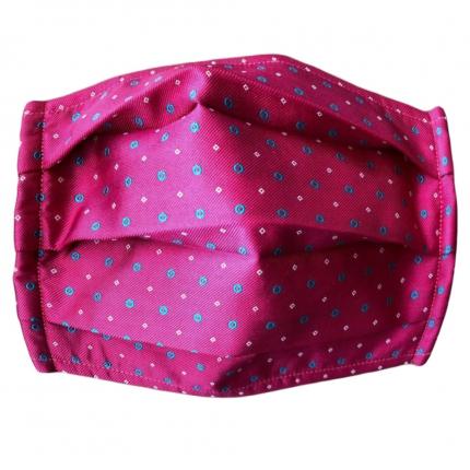 Fashion protective fabric mask, silk, fuchsia