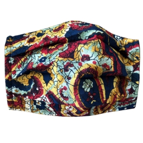 fabric mask silk paisley red