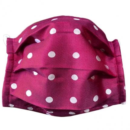 fabric mask washable dot purple stylemask