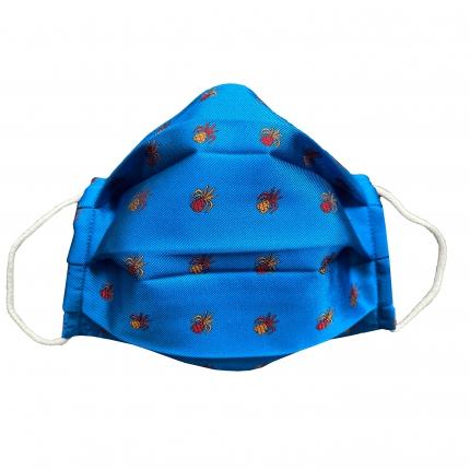 fabric mask pineapple blue royal