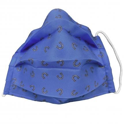 StyleMask Mascherina facciale filtrante blu con ferri di cavallo