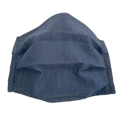 Masque enfant en tissu filtrant en coton bleue clair jeans