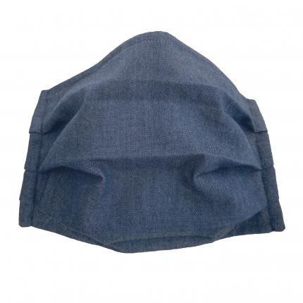 Wiederverwendbare Schutzmasken baumwolle für Kinder, blau klar jeans