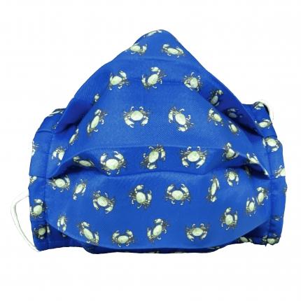 StyleMask Mascherina facciale da bambino, filtrante, blu fantasia granchi