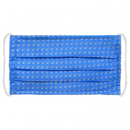 Masque filtrant en soie avec ancres, bleue clair