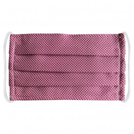masque en tissu lavable filtrant et soie rose geometric