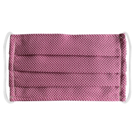 StyleMask Mascherina facciale in tessuto filtrante e seta rosa fantasia geometrica