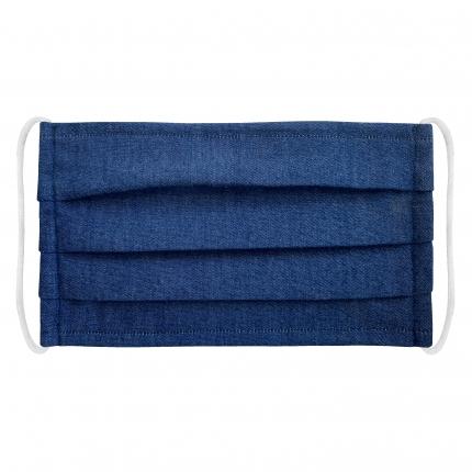 Wiederverwendbare Schutzmasken baumwolle, blau jeans