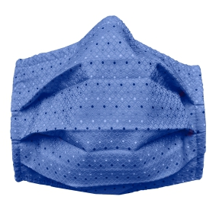 StyleMask Mascherina facciale filtrante in seta blu pois multicolore