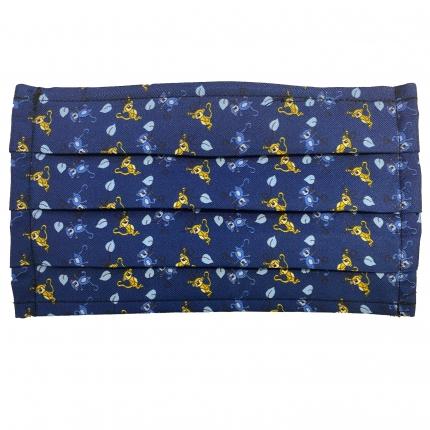 StyleMask Mascherina bambino in tessuto filtrante blu fantasia scimmie