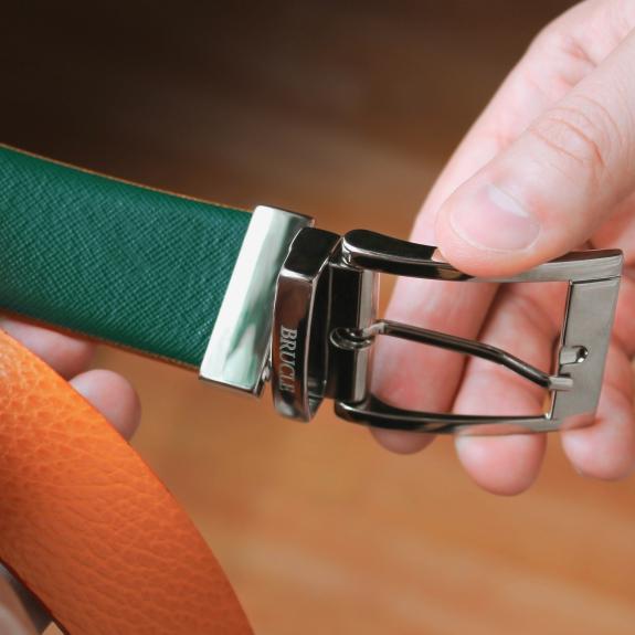 Wende-Gürtel grün orange