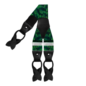 Y-shape elastic suspenders, palm tree pattern