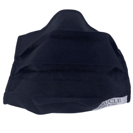 Masque filtrant grand public en soie bleu