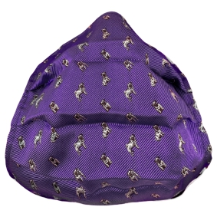 Masque filtrant en soie violet avec carlin
