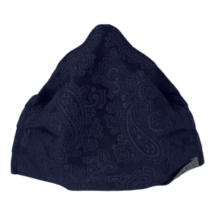 StyleMask Mascherina facciale filtrante blu paisley cachemire