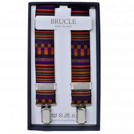 Braces silk X Suspenders multicolor