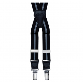 Skinny Elastic X Suspenders striped blue