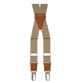 braces suspenders x form beige tan
