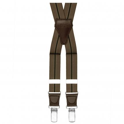 Bretelles rayée brun foncé