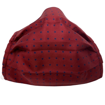 Fashion washable protective fabric mask, silk, red dot