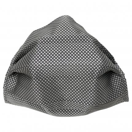 Fashion protective fabric mask, jacquard grey