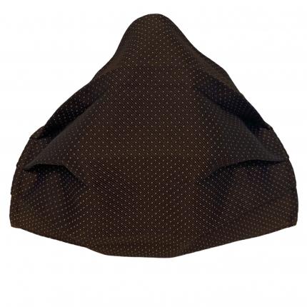 Fashion washable protective fabric mask, silk, brown dot