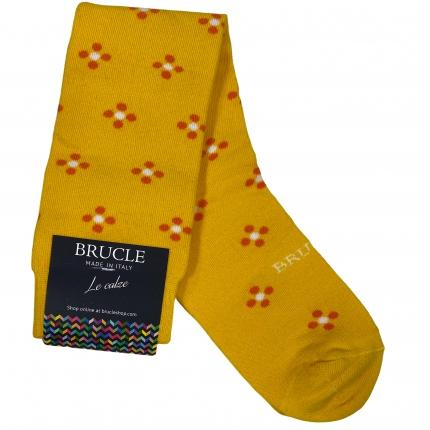 yellow flower socks