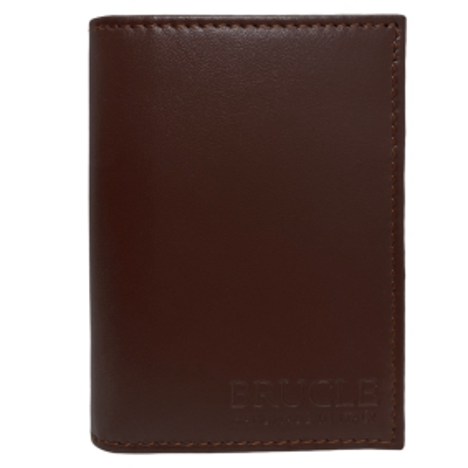 Brucle Leder Geldbörse Kreditkartentui braun