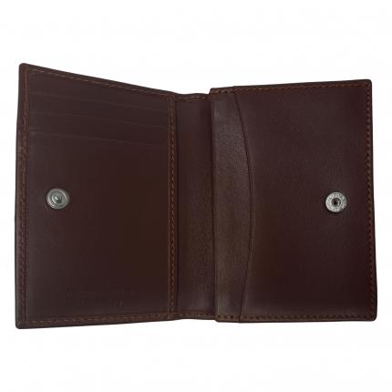 Porte carte de crédit brun