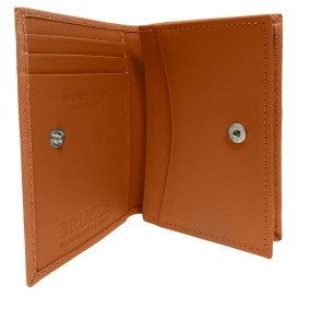 Brucle credit and business card holder saffiano orange