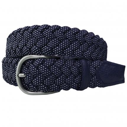 braided elastic belt dot blue