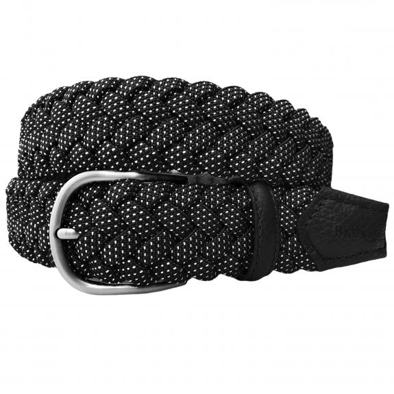 Braided Elastic Stretch Belt black dot