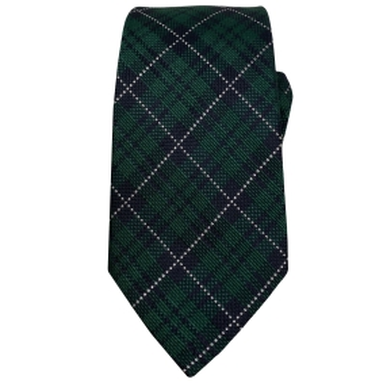 Seiden Krawatte tartanmuster grün