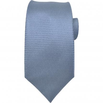 Cravatta sottile in seta azzurra