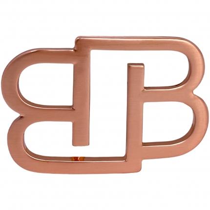 Fibbia BB nickel free per cinture da 35 mm, oro rosa