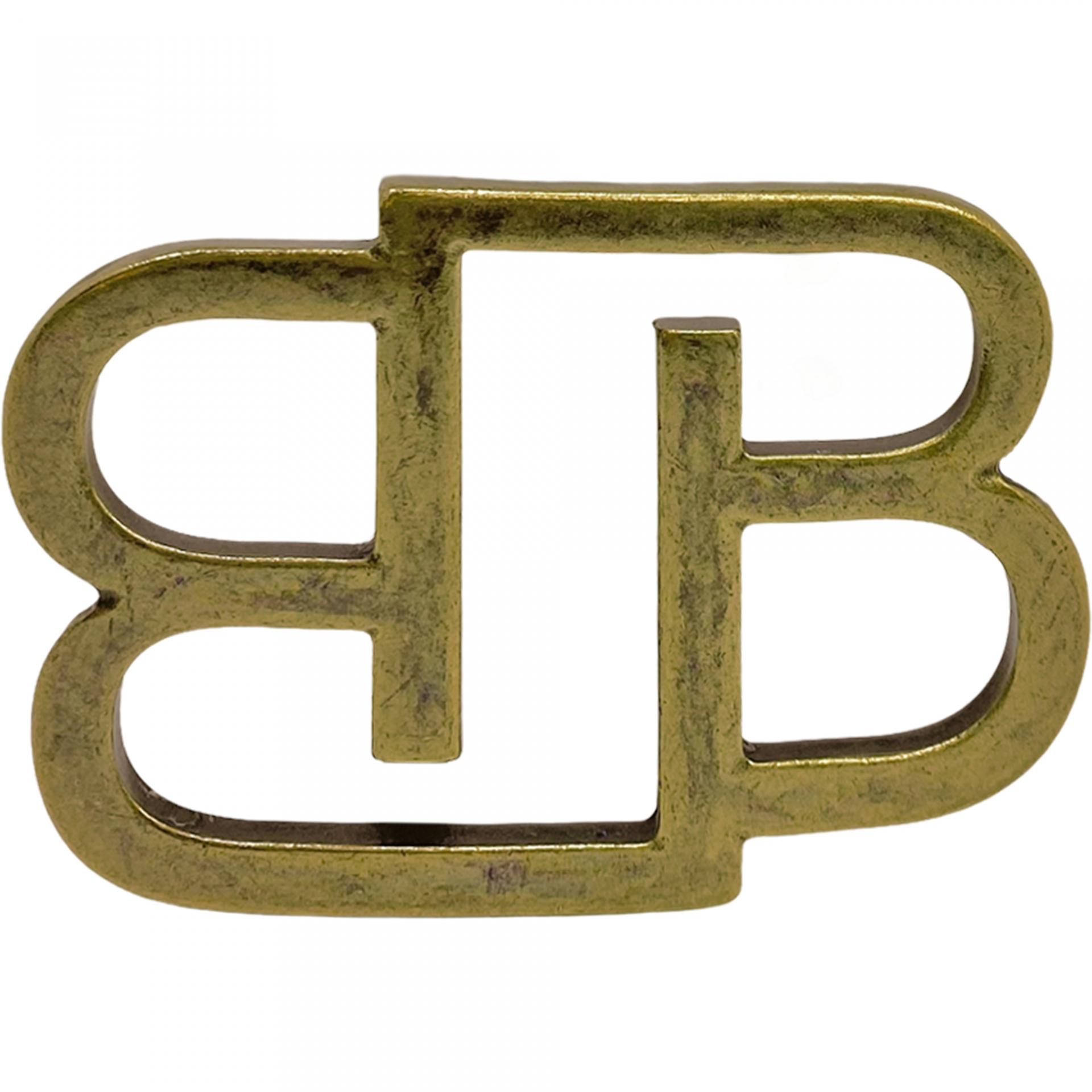 BB Buckle nickel free 35 mm, antique brass