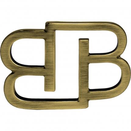Fibbia BB nickel free per cinture da 35 mm, bronzo satinata