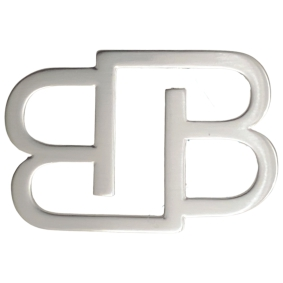 BB Buckle nickel free 35 mm, silver satin