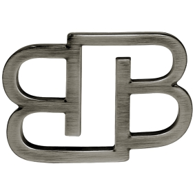 BB Buckle nickel free 35 mm, silver polish