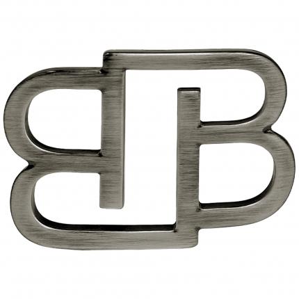 Fibbia BB nickel free per cinture da 35 mm, canna fucile