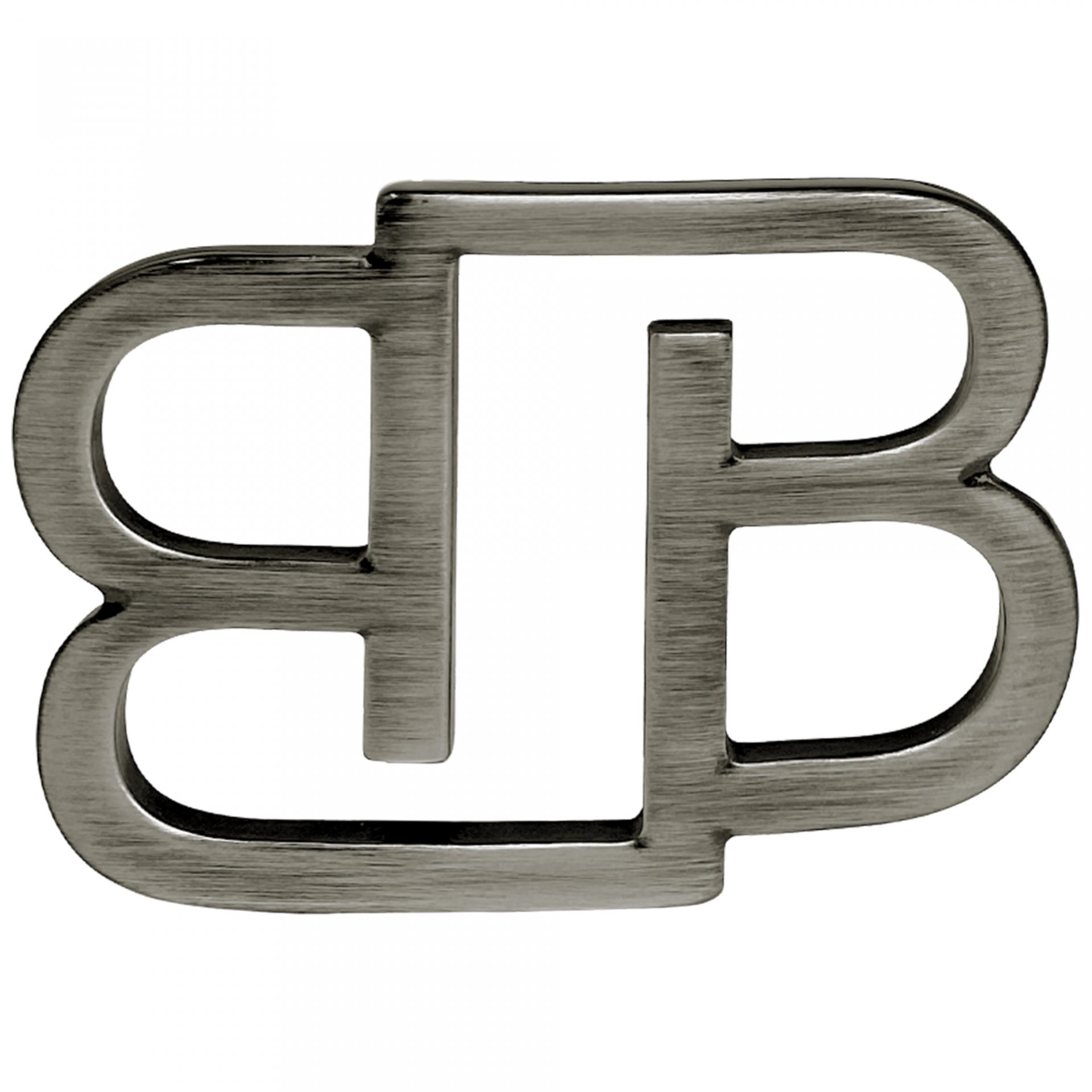 BB Buckle nickel free 35 mm, silver polish