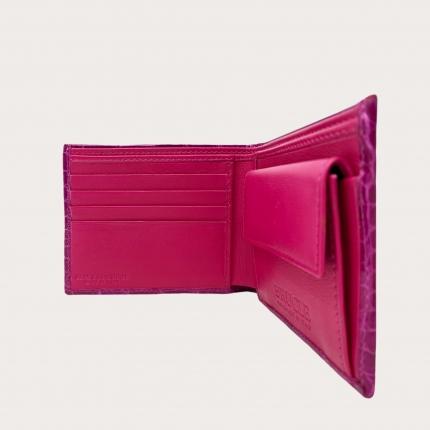 Brucle compact bifold crocodile wallet