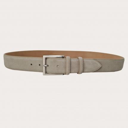Cintura alta scamosciata beige