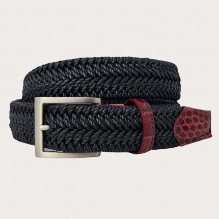 Cintura elastica intecciata nera