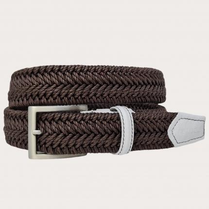 Cintura elastica intecciata testa moro